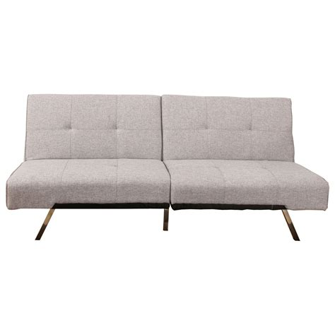 fabric futon sofa bed royale peppered grey fabric sofa bed next day delivery
