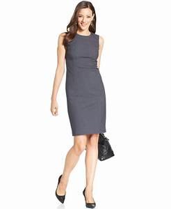 Dressing New York : lyst jones new york sleeveless seamed sheath dress in gray ~ Dallasstarsshop.com Idées de Décoration