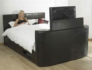 Lit Avec Tv Escamotable : lit multim dia avec cran plat escamotable ventura ~ Nature-et-papiers.com Idées de Décoration