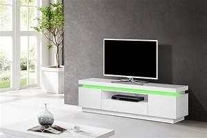 Ikea Meuble Télé : beautiful gagnant meuble blanc meuble tv blanc laque led ~ Melissatoandfro.com Idées de Décoration