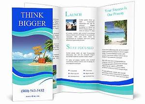 ocean island voucher bags brochure template design id With island brochure template