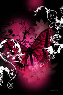 Black and Pink Butterfly Wallpaper