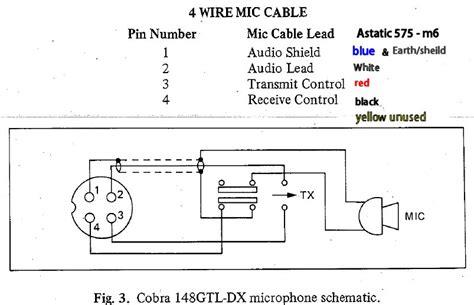 mic wiring diagram  astatic    cobra speckog