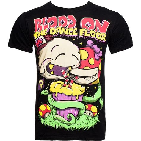 Blood On The Floor Band Merch by Blood On The Floor Mario T Shirt Black Mario