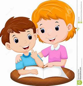 Mother teaching her child stock illustration. Illustration ...