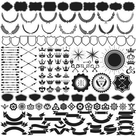 design element vector collection  vector cdr