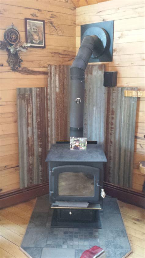 Metal Barn Roof Tin Woodstove Heat Shield Rustic
