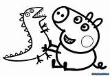 Coloring Pages Peppa Pig Reading sketch template