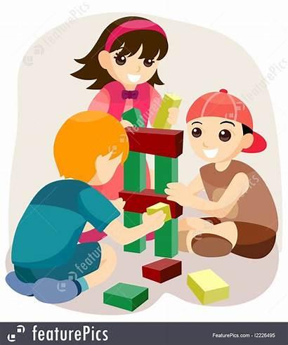 Blocks Building Playing Children Illustration Toys Featurepics