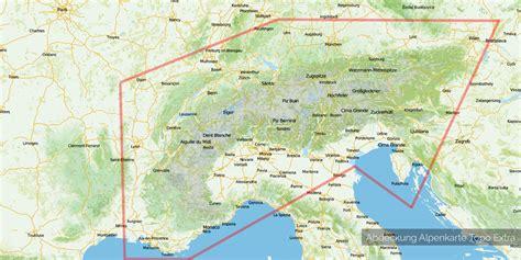 italien alpen karte kleve landkarte