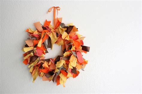 make your own fall wreath picture of diy thanksgiving fabric wreath