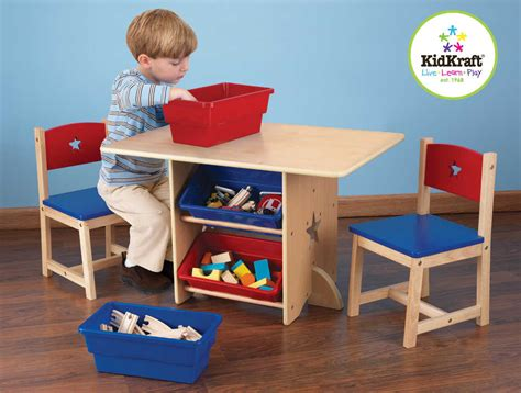 Kidkraft Table Two Chair Set by Table Chaises Et Bac Rangement Enfant En Bois Table