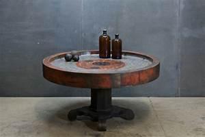 Table Basse Ronde Industrielle : la table basse industrielle pour relooker vos chambres ~ Teatrodelosmanantiales.com Idées de Décoration