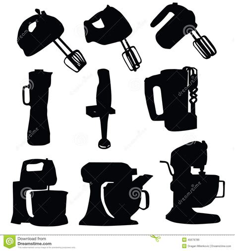 Kitchenaid Mixer Vector by Mixer Silhouette Gallery