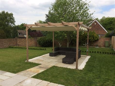 garden pavilion isola fly retractable canopies