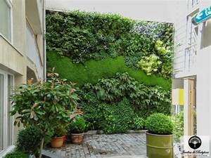Mur Végétal Extérieur : custom built green wall jardins de babylone ~ Premium-room.com Idées de Décoration