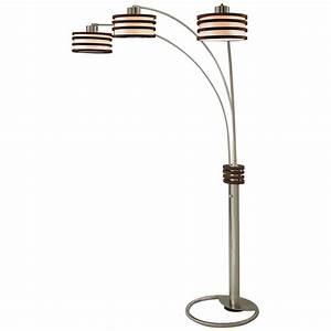 Cool Floor Lamps With Elegant 3 Arm Arch Floor Lamp