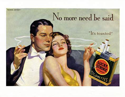 bizarre tobacco advertising    vintage