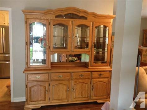 oak china cabinets for oak hutch china cabinet for in cary carolina