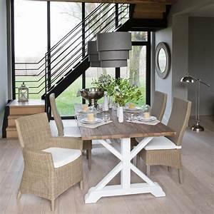 Maison Du Monde Bar : mesa de comedor con listones de madera reciclada an 200 cm sologne maisons du monde decor ~ Teatrodelosmanantiales.com Idées de Décoration