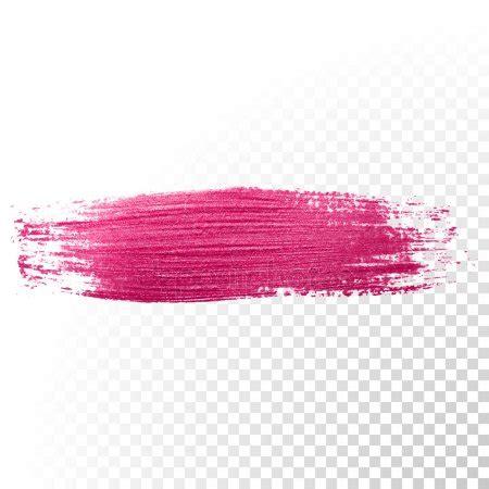 grunge pink paint brush stroke vector stock vector