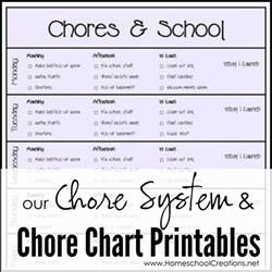 our chore system chore charts for printables