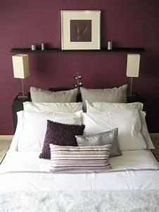 la couleur bordeaux un accent dans linterieur contemporain With couleur de mur pour chambre