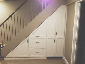 under stairs cupboard ideas for making small spaces of With best brand of paint for kitchen cabinets with staircase wall art ideas