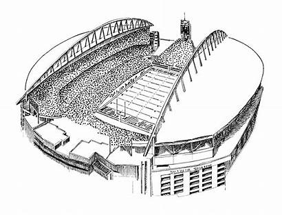 Coloring Pages Seahawks Seattle Stadium Football Nfl