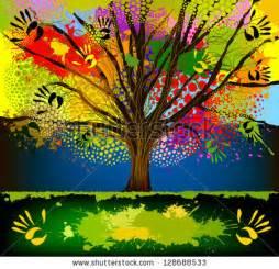 Tree Illustration Colorful
