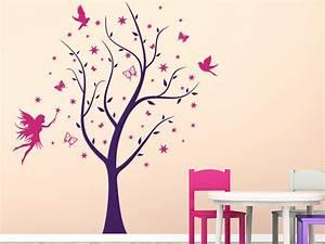 Wandtattoo Kinderzimmer Schmetterlinge : wandtattoo verzauberter baum mit sternen und fee ~ Sanjose-hotels-ca.com Haus und Dekorationen