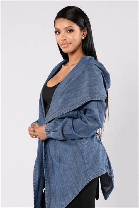 Hooded Denim Jacket - Medium Stone | Fashion Nova