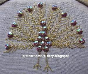 Let's learn embroidery: Peacock design