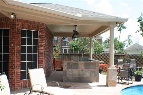 Patio And Outdoor by Patio Cover And Outdoor Kitchen In Houston Tx Hhi Patio