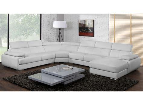 canapé panoramique design canapé panoramique cuir 7 places elevanto noir ou blanc