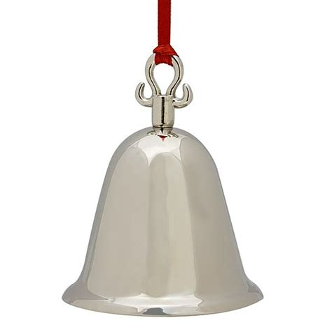 christmas ornament bells silver bell ornament