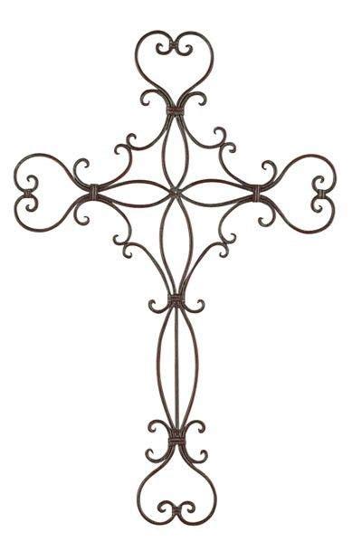 iron metal wall cross garden rustic unique scroll decor indoor outdoor ebay