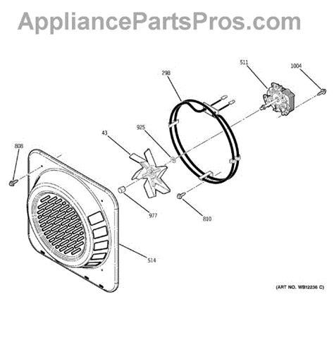 parts  ge jtpbdbb convection fan parts appliancepartsproscom