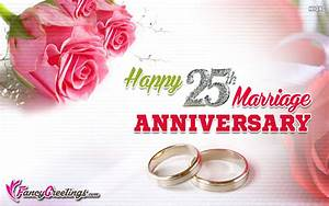 happy 25th marriage anniversary ecard greeting card With happy 25th wedding anniversary
