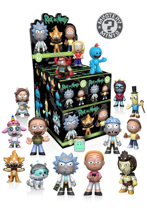 mystery minis rick morty wave  blind box toys