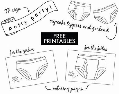 Potty Training Party Printables Toilet Coloring Pages