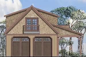 Craftsman, House, Plans, -, Garage, W, Loft, 20-125