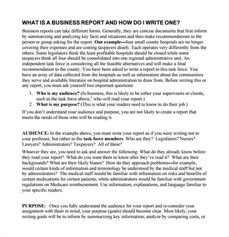 sample report writing format templates