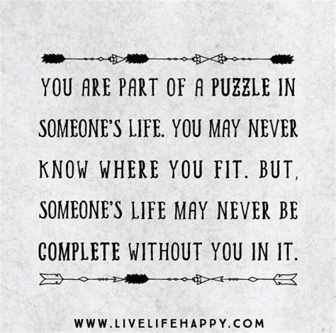 Jigsaw Puzzle Quotes About Life