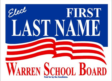 political and election yard signs templates a g e graphics