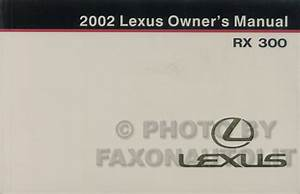 2002 Lexus Rx 300 Wiring Diagram Manual Original
