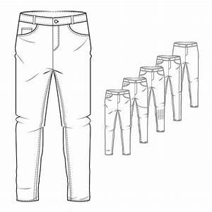 Menu2019s Denim Jeans Style Trouser Technical Drawing u2026 | Pinteresu2026