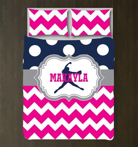 pink and grey bedding sets custom softball chevron polka dot bedding for