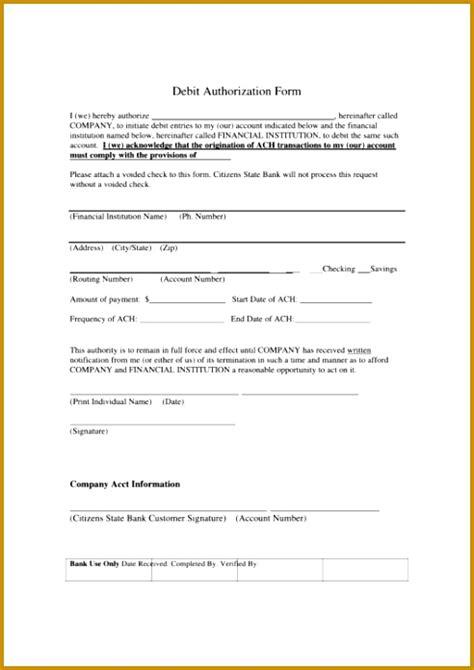 ach debit authorization form template fabtemplatez