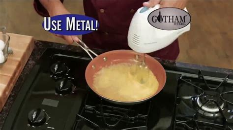 gotham steel pan tv commercial  stick cookware  featuring daniel green ispottv